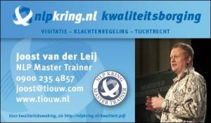 Licensed NLP Master Trainer Joost van der Leij